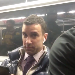 LeBron rides subway, guy unaware it's the Cavs (video)