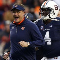Gus Malzahn, Auburn back in College Football Playoff mix after beating Georgia
