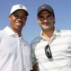 Tiger Woods and Roger Federer the 2017 CA World Golf Championships.