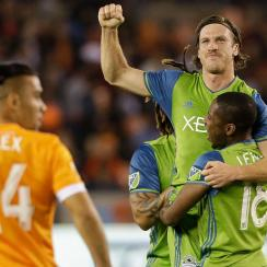 The Seattle Sounders won the first leg of the Western Conference final in Houston