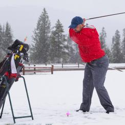 If you're playing in cold weather, try to keep your ball at room temperature.
