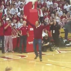 Jeff Overton, Indiana basketball halftime