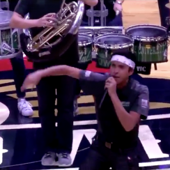 Pelicans halftime show features 'I'm Blue' cover (video)