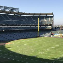 Eagles practice at Angel Stadium before Rams game