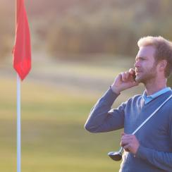 You can enjoy both golf and work, just not at the same time