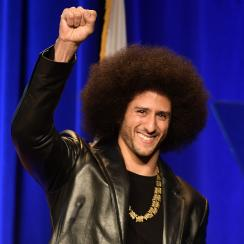 """Colin Kapernick said he'll continue fighting for racial equality """"with or without the NFL"""" at SI's Sportsperson of the Year award ceremony."""