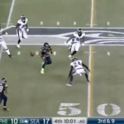 "Russell Wilson's lateral to Mike Davis was a ""Galilean Transformation,"" according to Neil deGrasse Tyson."