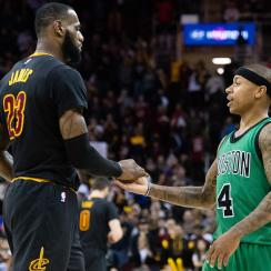 LeBron James said he's used NBA 2K to visualize how the Cavaliers can best use Isaiah Thomas.