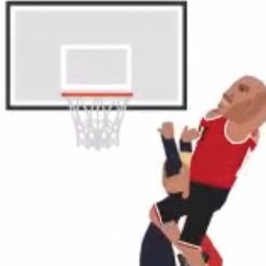 LaVar Ball released an animated video of him dunking on Donald Trump.