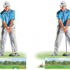 Adjust tee height for long drives.