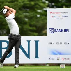 Justin Rose pictured during round two of the 2017 Indonesian Masters at Royale Jakarta Golf Club.