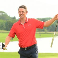 Justin Rose cruised to a victory at the Indonesian Masters at Royale Jakarta Golf Club on Sunday in Jakarta, Indonesia.