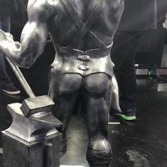 Birmingham Bowl trophy, designed after Vulcan Statue, has an ass
