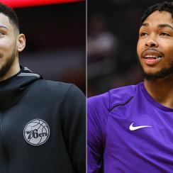 Ben Simmons and Brandon Ingram