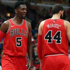 Bobby Portis and Nikola Mirotic