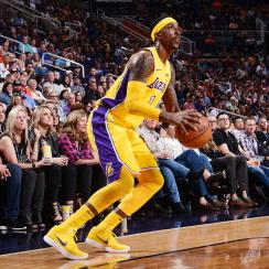 Kentavious Caldwell-Pope is playing for the Lakers while serving a 25-day jail sentence.