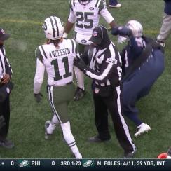 Johnson Bademosi flop: Patriots CB gets flag vs Jets (video)