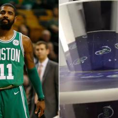 Kyrie Irving has flat earth machine at sneaker event (video)