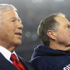 Robert Kraft and Bill Belichick after the Patriots' Super Bowl 51 victory.