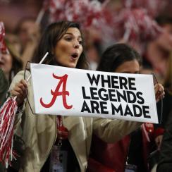 Alabama national championship: Student arrested naked
