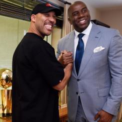 LaVar Ball and Magic Johnson