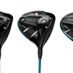 From left to right: The new Callaway Rogue driver, Rogue Sub Zero driver, and Rogue Draw driver.