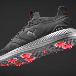Puma's new PWRADAPT sole technology uses 3-D traction pods to connect the player to the ground and adjust to any lie.