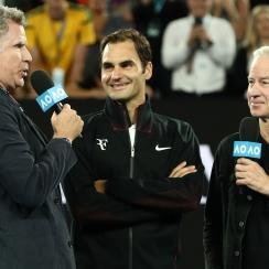 Roger Federer interviewed by Will Ferrell at Australian Open (video)