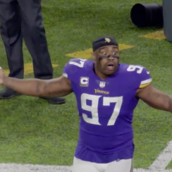 Vikings final play: Everson Griffen's reaction (video)