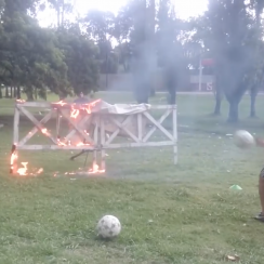 Argentina soccer: Dock Sud goalkeeping drills (video)