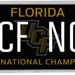 """The Florida legislature is considering legalizing a license plate to commemorate UCF's """"national championship"""" season."""