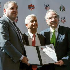 The USA, Mexico and Canada are hoping to be joint hosts of the 2026 World Cup