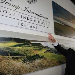 Trump arrives in Ireland in Dec. 2014.