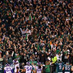 Eagles fans are mocking the Vikings' Skol chant as their team is crushing Minnesota en route to a Super Bowl berth.
