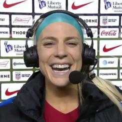 Julie Ertz was overjoyed upon hearing that the Eagles and her husband Zach are Super Bowl-bound.