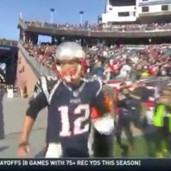 Tom Brady yelled at a cameraman to get out of the way before the AFC Championship Game.