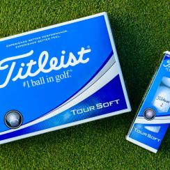 The new Titleist Tour Soft golf balls.