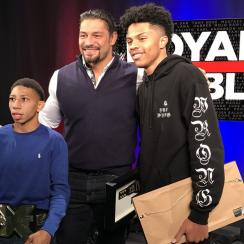 WWE: Shanquis and Charles Thompson meet superstars (video)