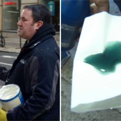 Eagles fans: Philadelphia police use gear oil on poles