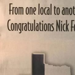 Mathew McConaughey full-page ad for Nick Foles