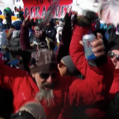 Red Gerard family shotgunning beers before Olympic snowboarding