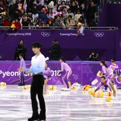 PyeongChang 2018, Why did fans throw Winnie-The-Pooh bears at Yuzuru Hanyu, Yuzuru Hanyu, winnie-the-pooh, winnie the pooh, winnie the pooh, men's figure skating