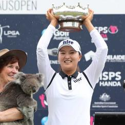 Jin Young Ko had a commanding wire-to-wire victory at the Australian Open.