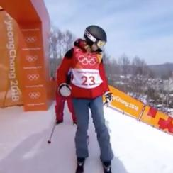 Skier doesn't attempt a trick at Olympics