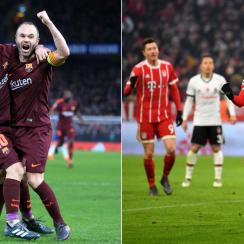 Barcelona and Bayern Munich emerge with positive Champions League results