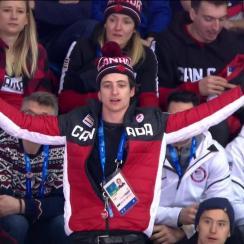 Scott Moir yells at Olympic women's hockey refs (video)