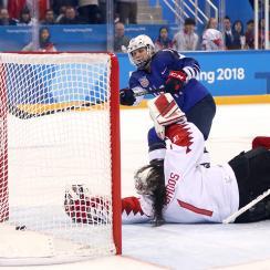 Jocelyne Lamoureux: USA vs Canada winning goal (video)