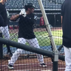 Russell Wilson Yankees: Batting practice home runs (video)