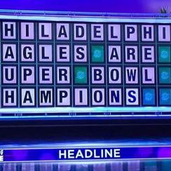 eagles super bowl champions wheel of fortune