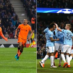 Liverpool and Manchester City are in the Champions League quarterfinals